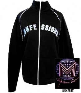 CONFESSIONS TOUR  - BLACK FLEECE TRACK JACKET